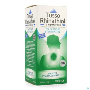 Tusso rhinathiol 2mg/ml sirop ad s/sucre 180ml