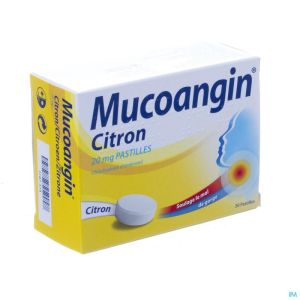 Mucoangin citron past a sucer 30x20mg