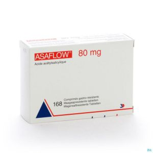 Asaflow 80mg Comp Gastro Resist Bli 168x 80mg