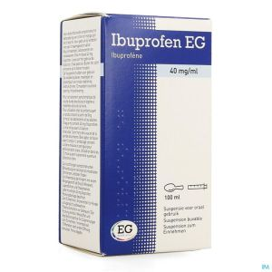 Ibuprofen eg 40 mg/ml susp buvable 100 ml