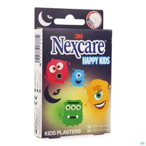 Nexcare 3m Happy Kids Monstres Pans 20 N0920mo